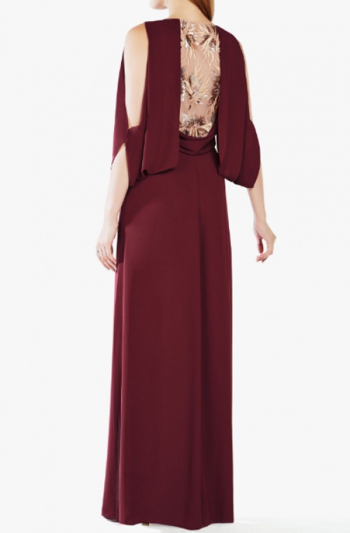 CORNELIA EMBROIDERED SEQUINED GOWN