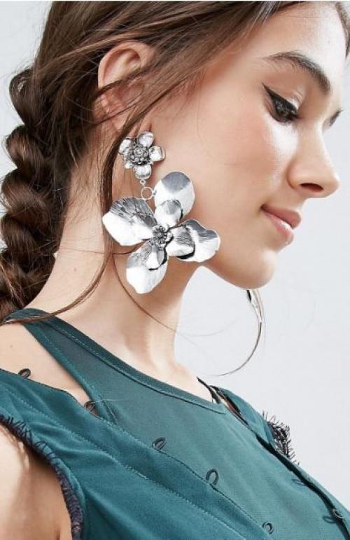 Asos - boucles d'oreilles fleurs