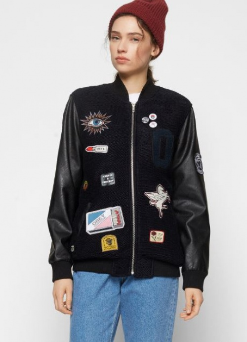 Obey - bomber à patchs