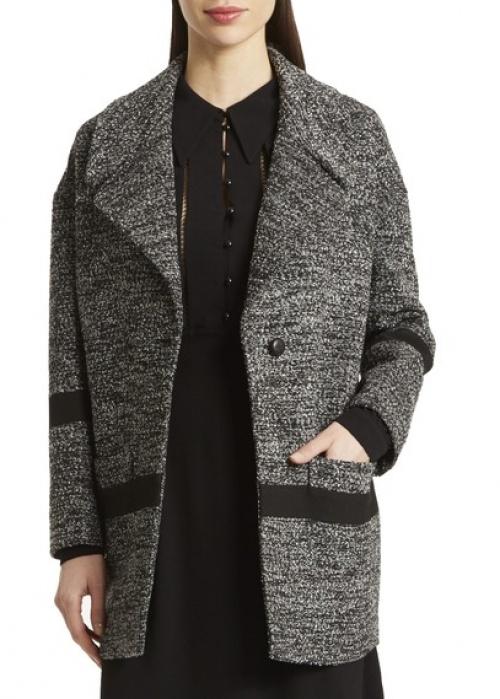 Manteau oversize en maille, Noir