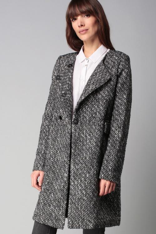Manteau gris noeud
