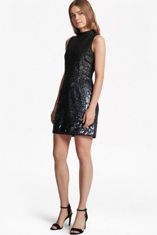 Starlight Sparkle High Neck Sequin Dress
