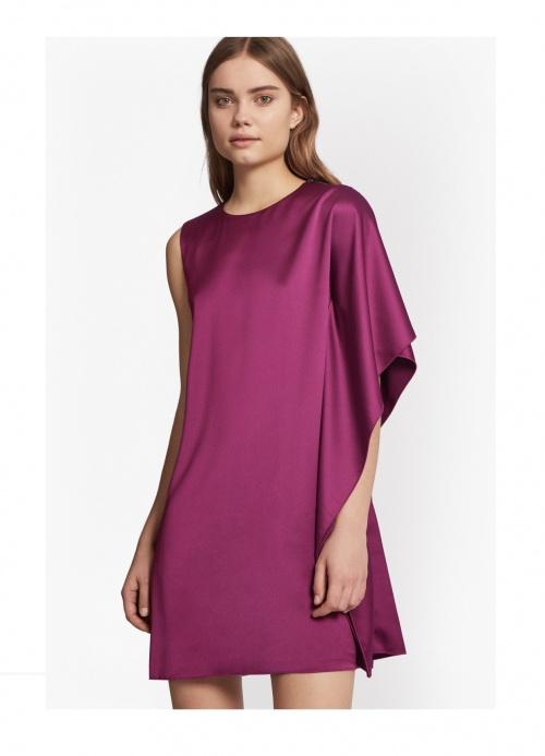 Sasha Satin Fluted Mini Dress