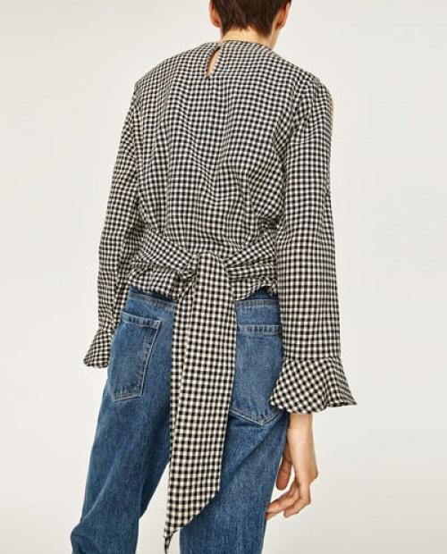 Zara - blouse à nouer