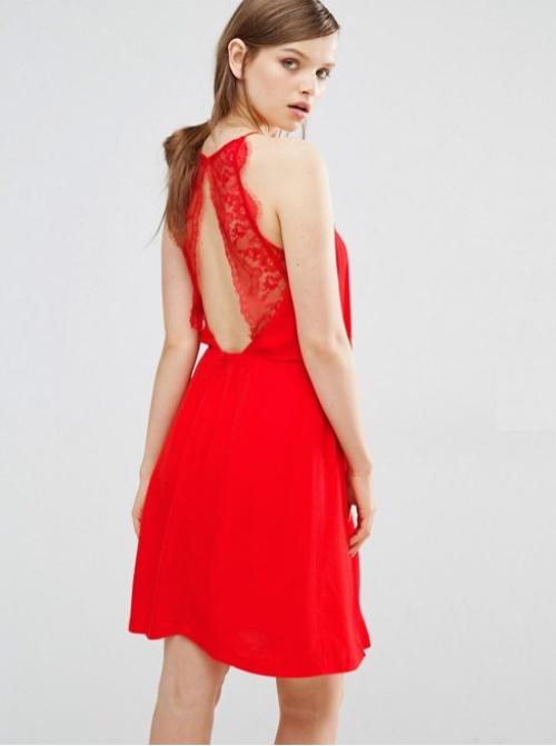 Samsoe & Samsoe  robe rouge dos dentelle