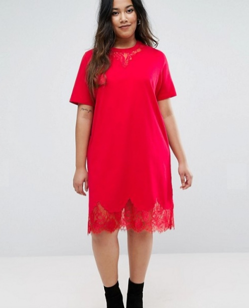 Asos robe rouge curve