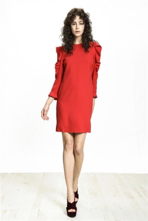 Pinko robe rouge épaules nues