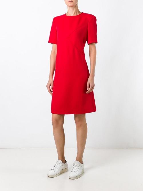 Courrège robe rouge