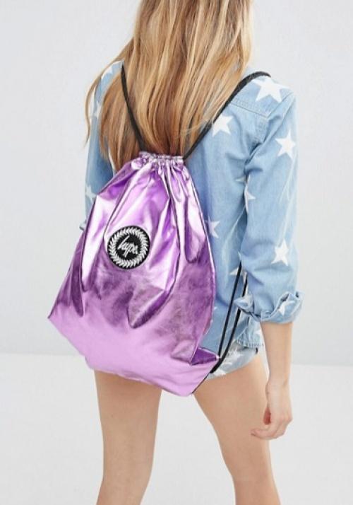 sac dos rose pastel metalissé