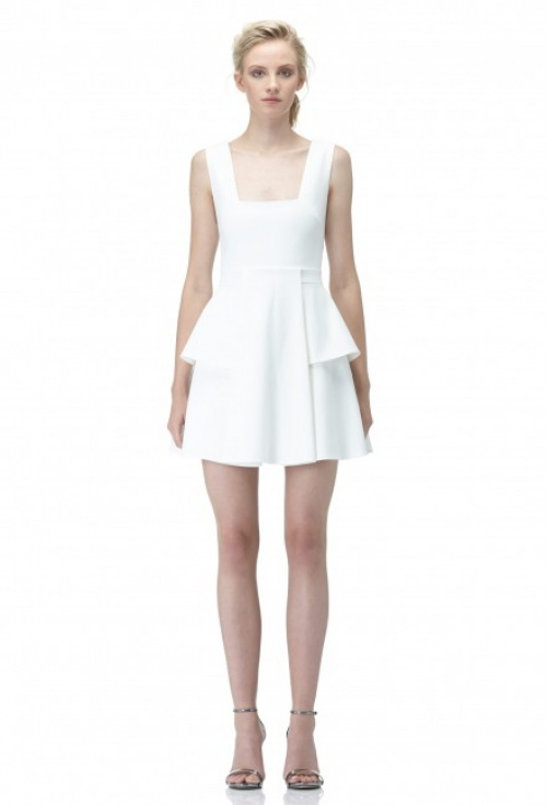 AQ/AQ robe patineuse découpe blanche