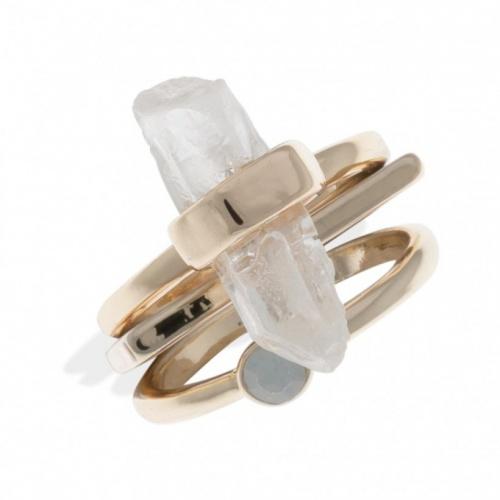 Bala Boosté - set de bagues cristal