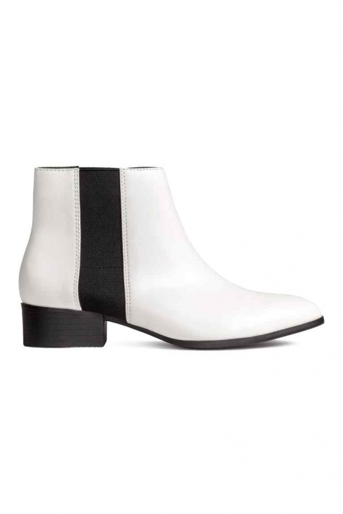 H&M - boots blanches