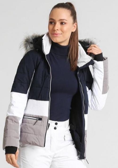 vest rayée gris blanc bleu marine
