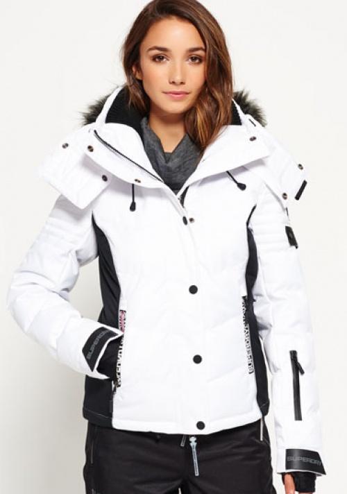 veste blanche fourrure