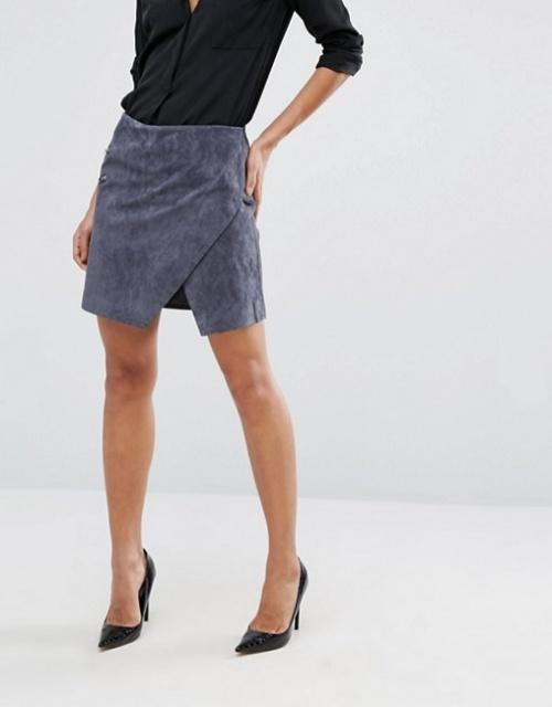 Mini-jupe zippée