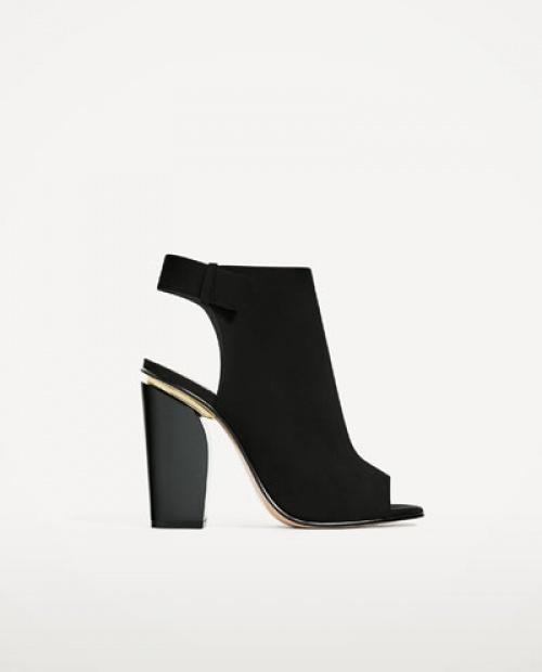 Zara boots open noires