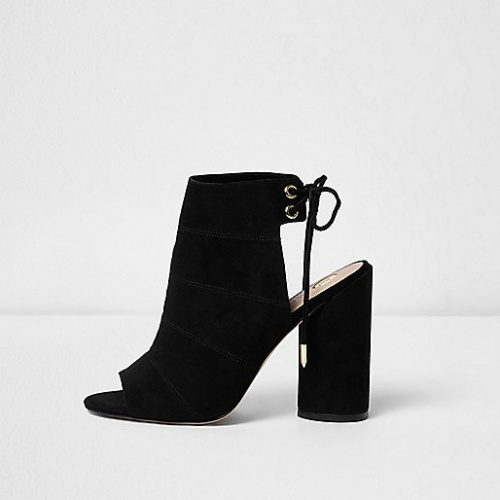 River Island  boots noir ouverte