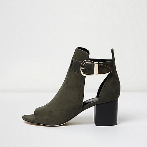 River Island  boots kaki open