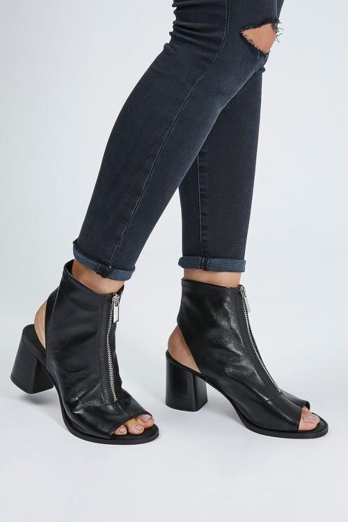 Zara  boots cuir open tooe