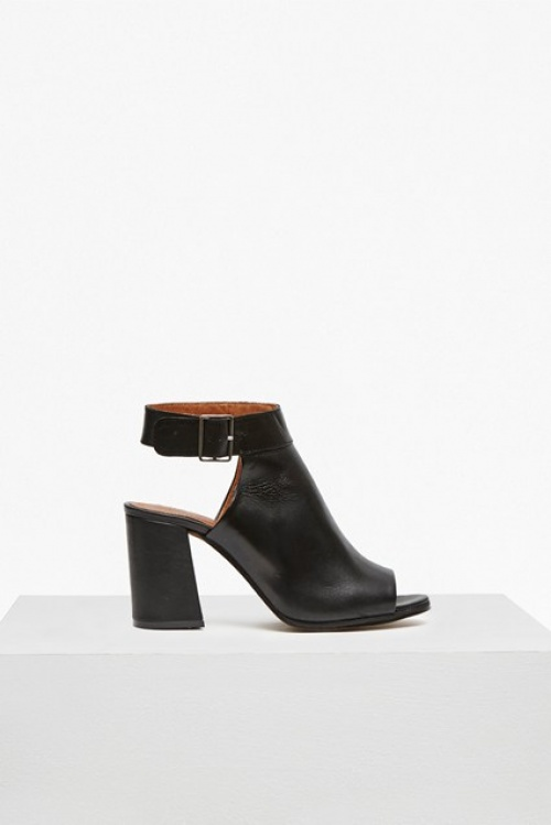 French Connection bottines noires ouvertes