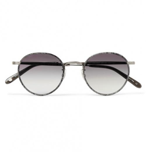 Wilson 49 Round-Frame Acetate And Gunmetal -Tone Sunglasses