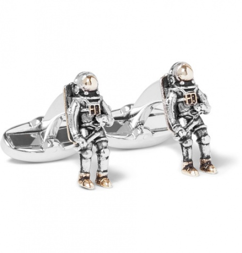 Spaceman Silver And Gold-Tone Cufflinks