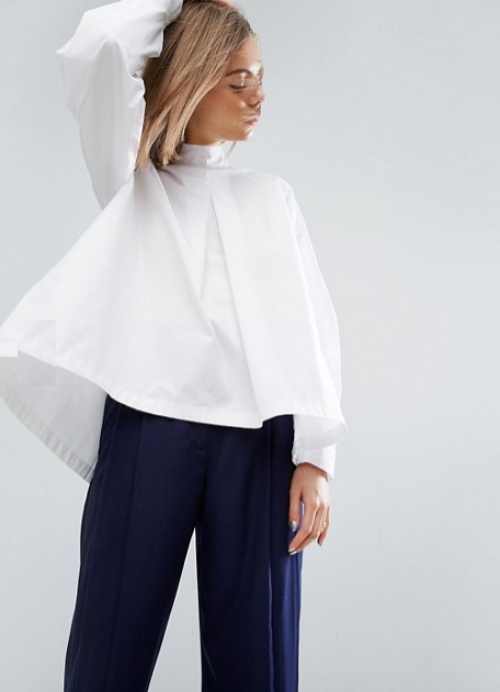 Asos top blanc chemise