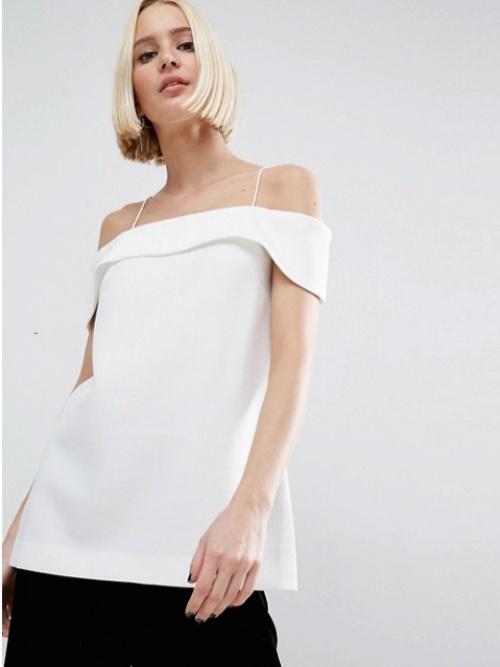 Asos top minimaliste blanc