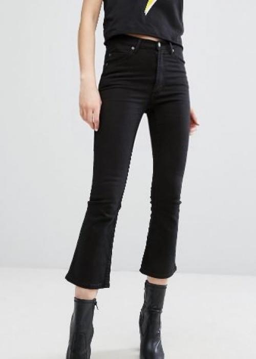 Cheap Monday - jean noir skinny évasé