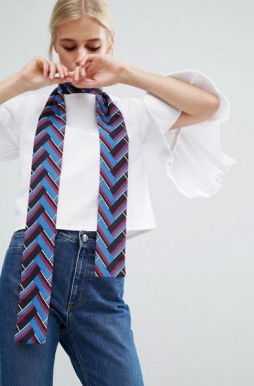 Asos - foulard cravate à chevrons