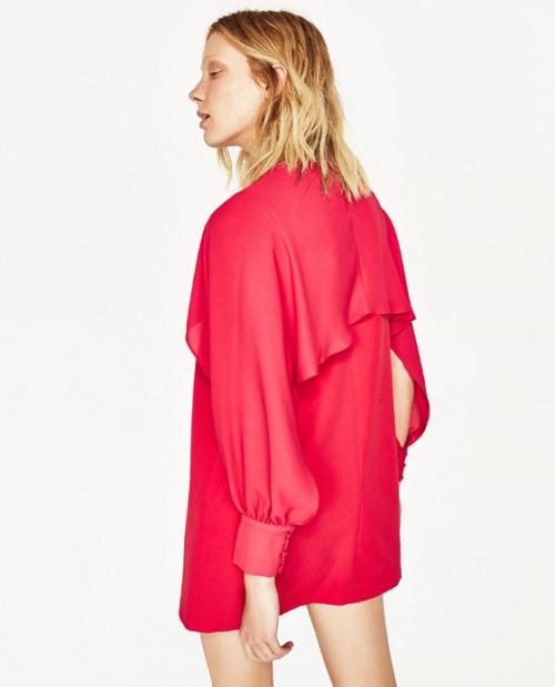 Zara - Robe fuschia fentes manches