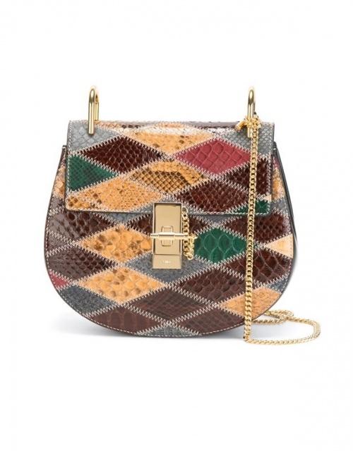 Chloé - sac chaine patchwork