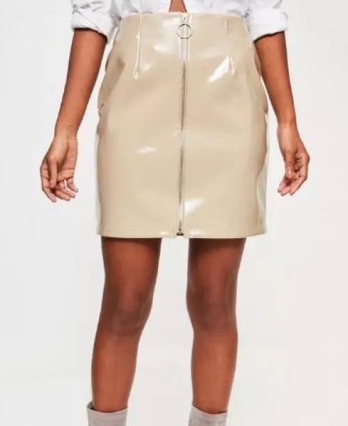 Missguided - jupe zippée vinyle
