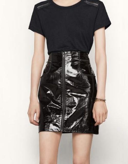 Maje - jupe zippée vinyle