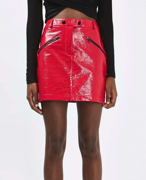 Topshop - jupe zippée vinyle