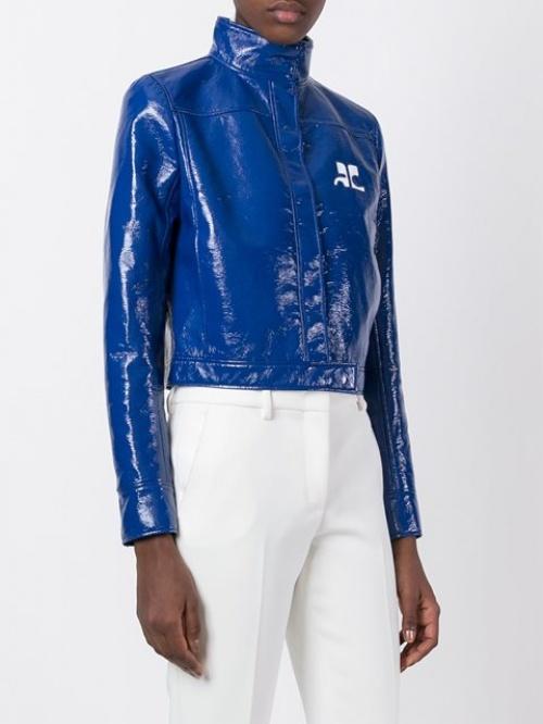 Courrèges - veste vinyle courte