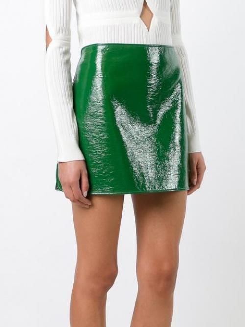 Courrèges - jupe vinyle verte