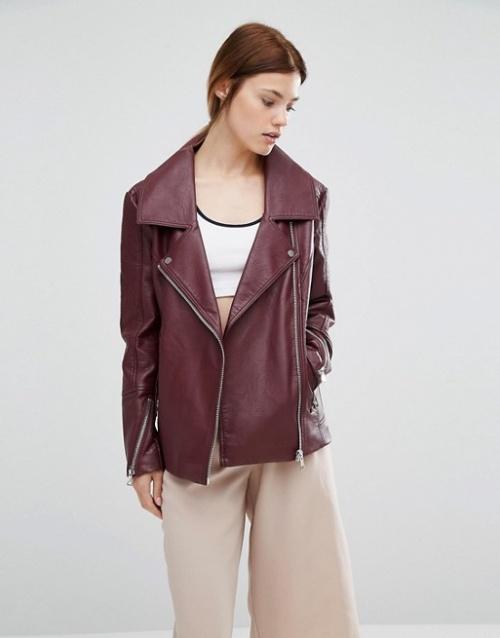 Urbancode veste cuir bordeaux