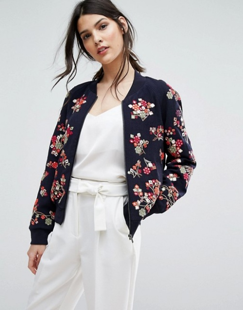 French Connection - veste bomber coutures
