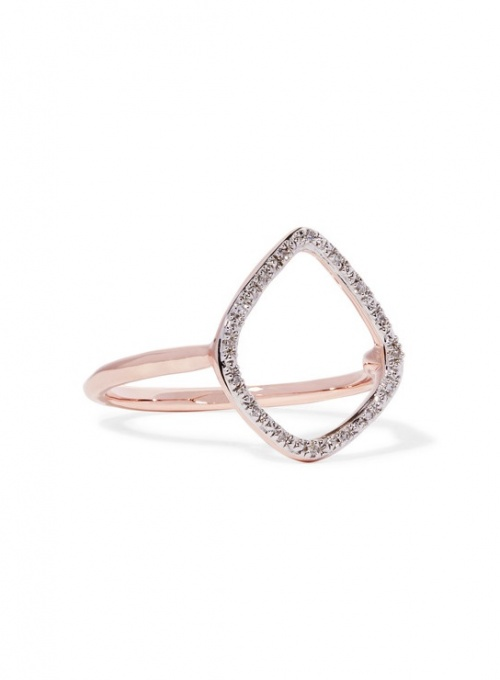 Monica Vinader - bague or rose et diamants