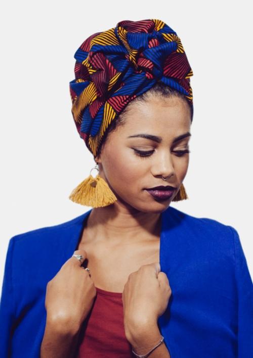 Turban flexible - L'Africaine wax - ANITA