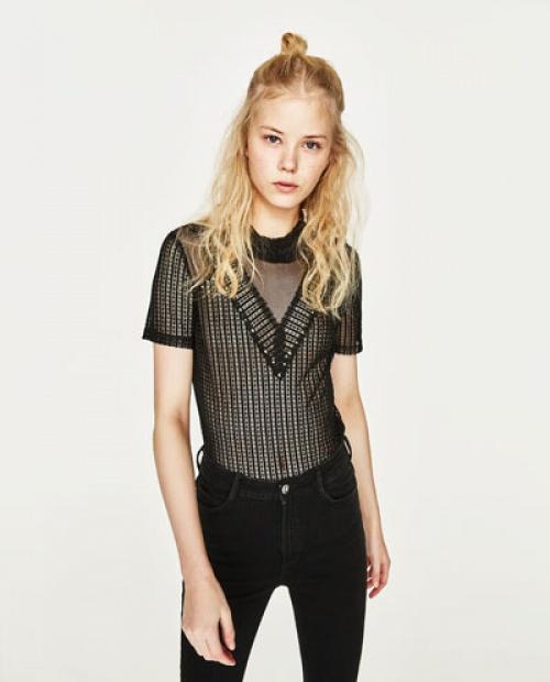 Top Zara noir