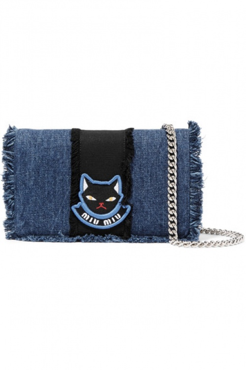 Miu Miu - sac chat en denim