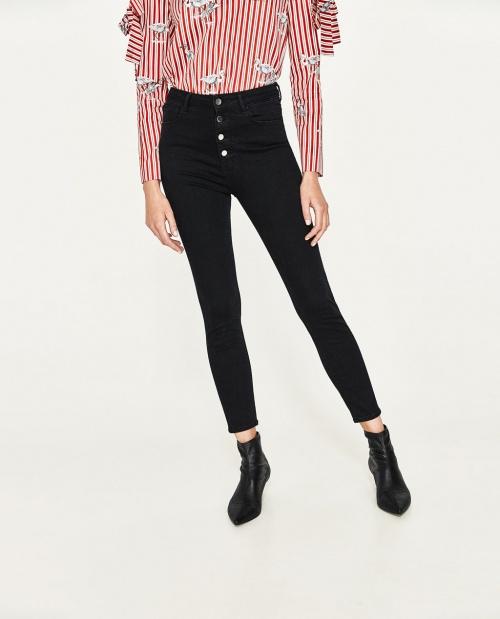 Zara - skinny à boutons