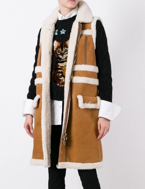 Carven - shearling sans manches