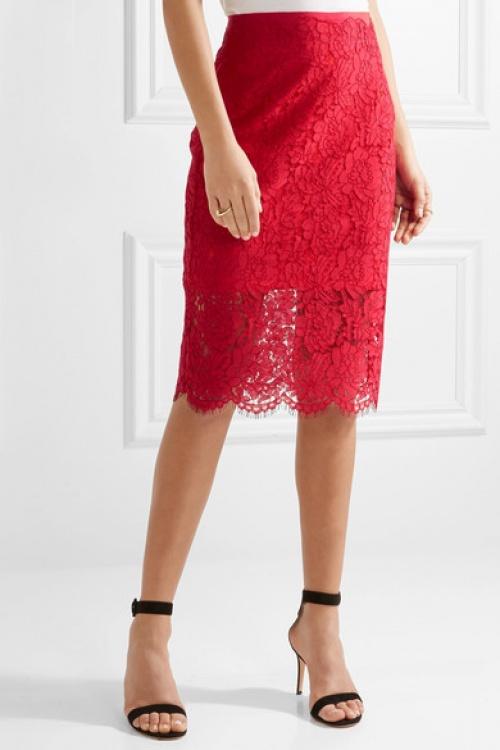Diane von Furstenberg - Jupe rouge dentelle