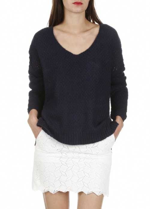 Suncoo - Jupe dentelle blanche courte