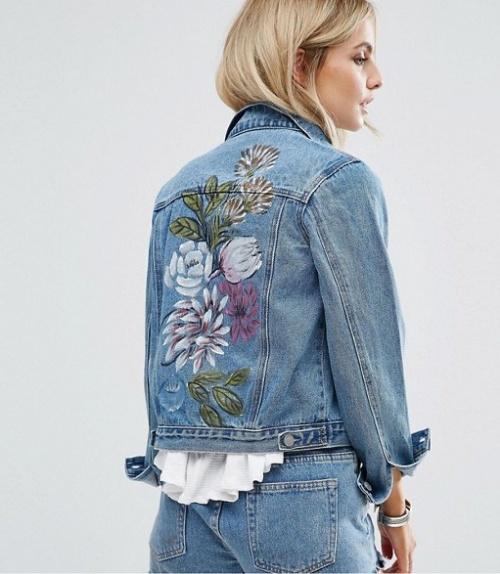 Glamorous - Veste jean peinte