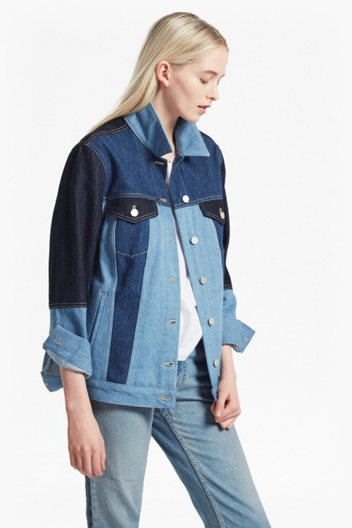 French Connection - Veste patchwork jean