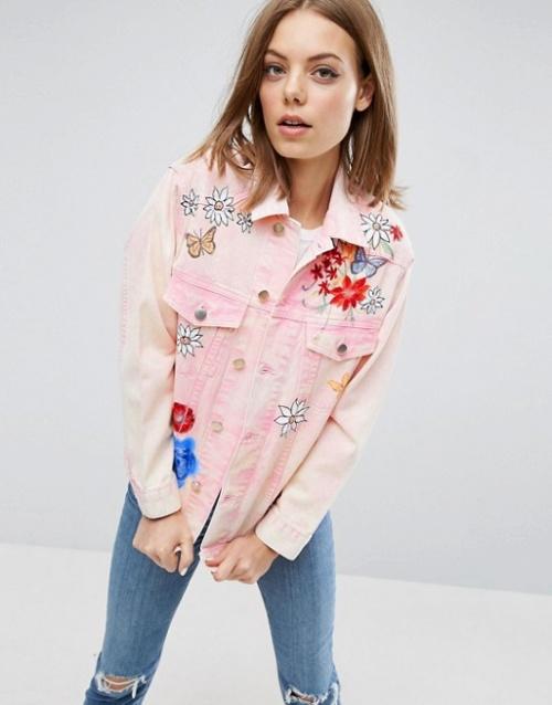 Asos - Veste rose jean
